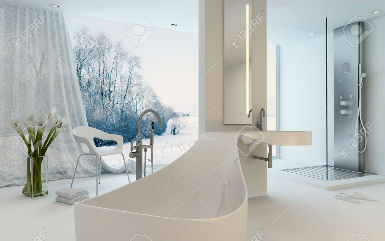 Badezimmer Boden Modern Stock Photo