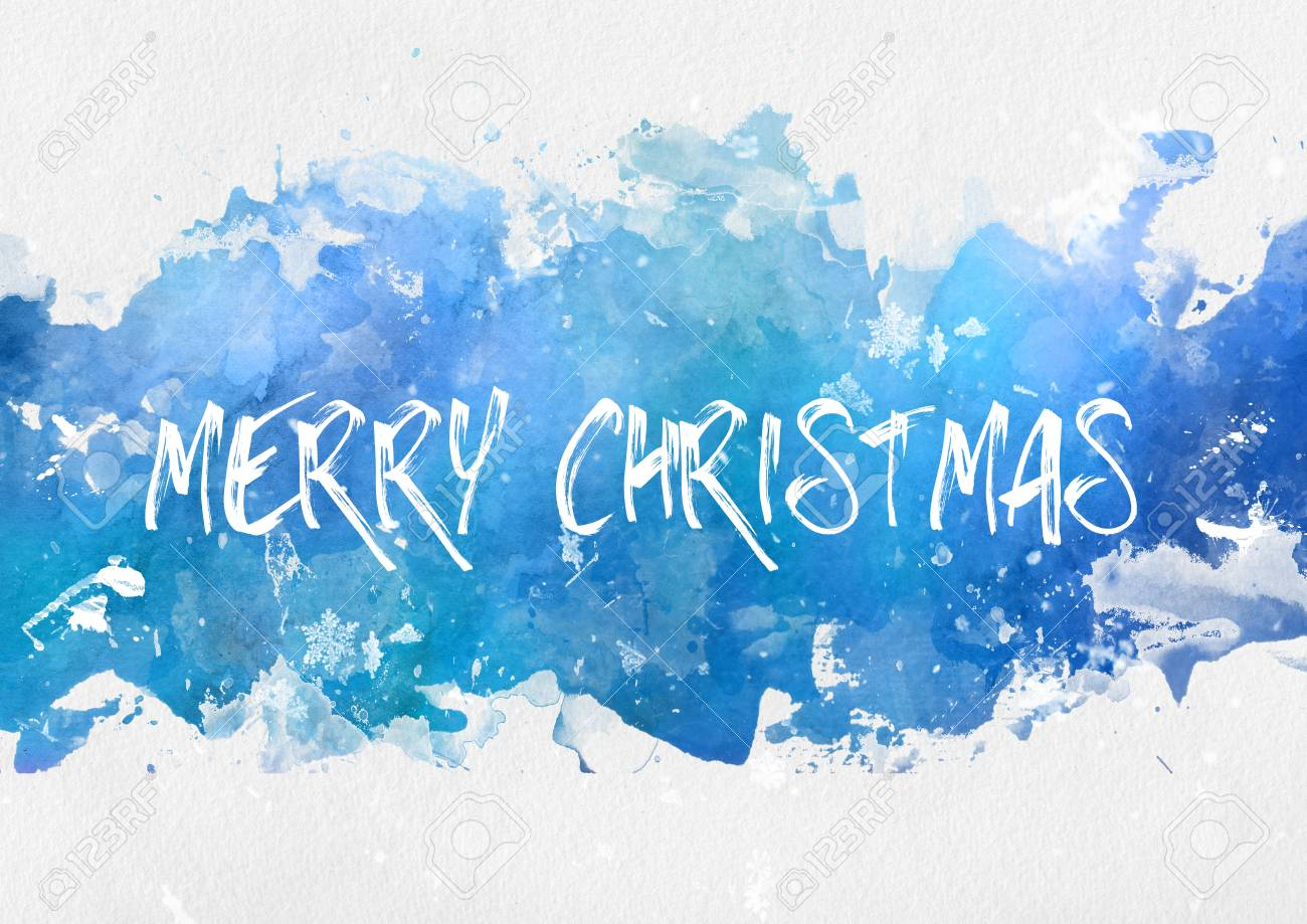 Cool Blue Paint Cool Blue Winter Splash Effect Merry Christmas Paint Background