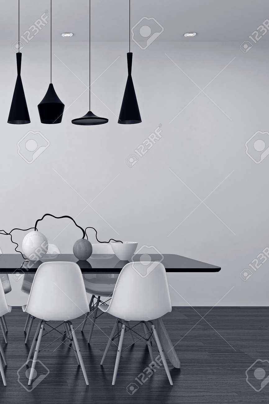 Weisse Esszimmer Stock Photo