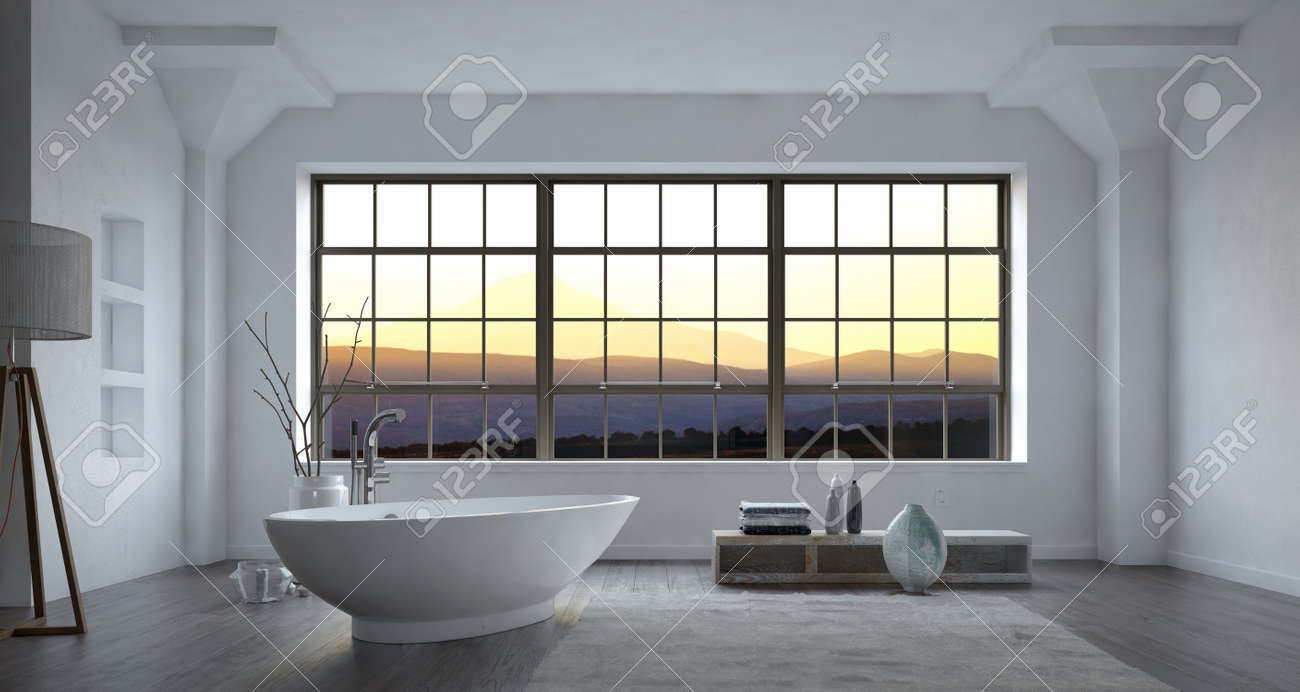 Moderne Grosse Badezimmer Stock Photo