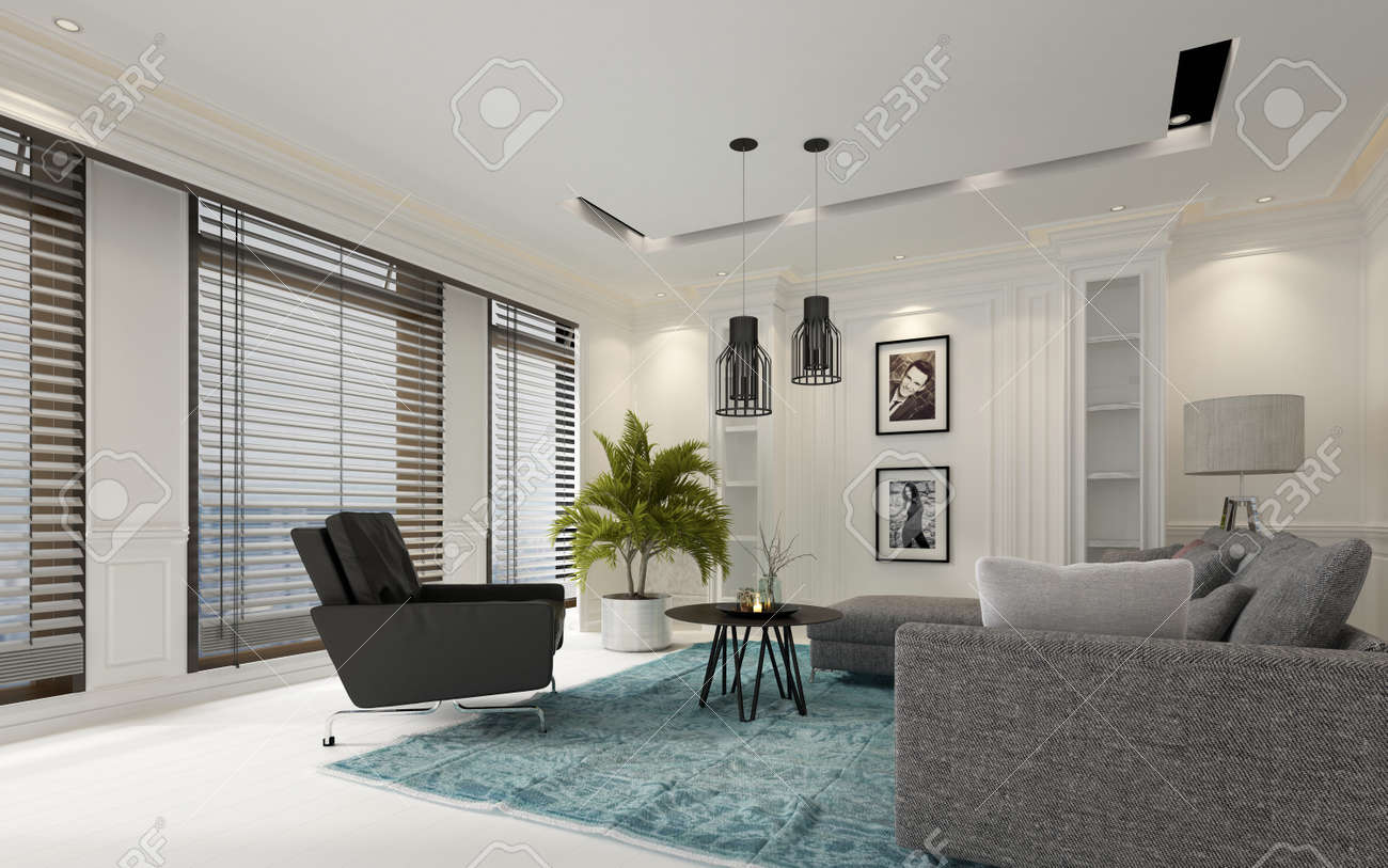 Moderne Luxus Wohnzimmer Stock Photo