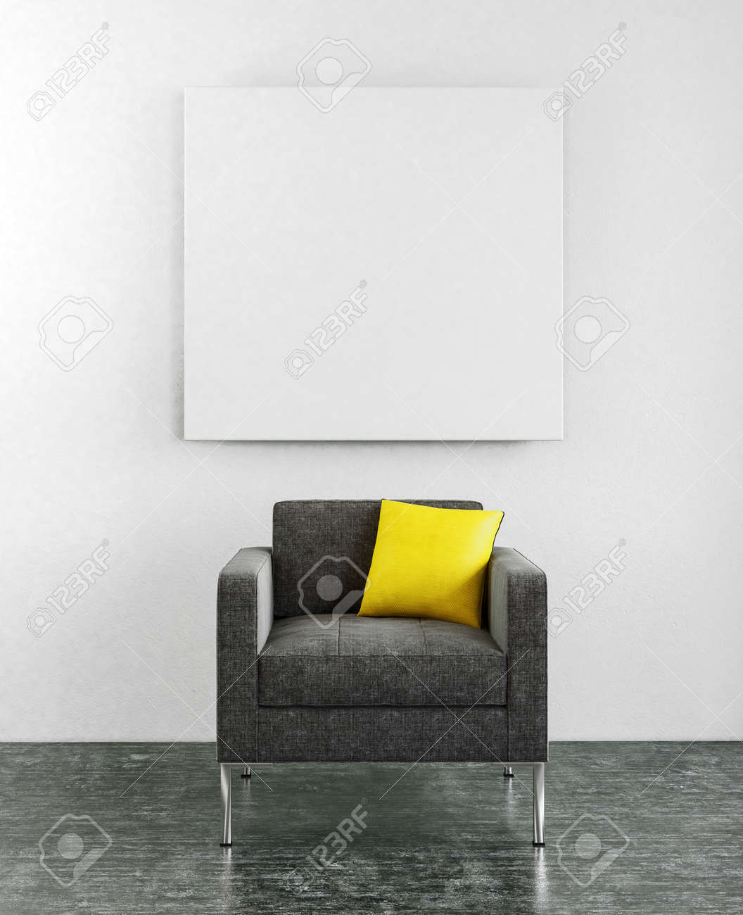 Lounge Sessel Gelb Stock Photo