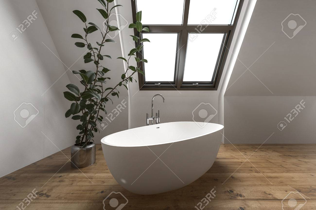 Badezimmer Pflanze Stock Photo