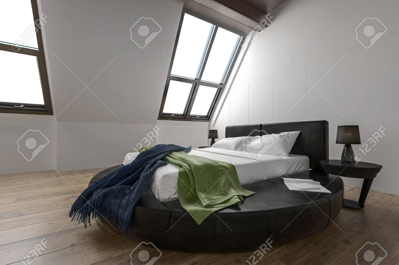 Designer Schlafzimmer Stock Photo
