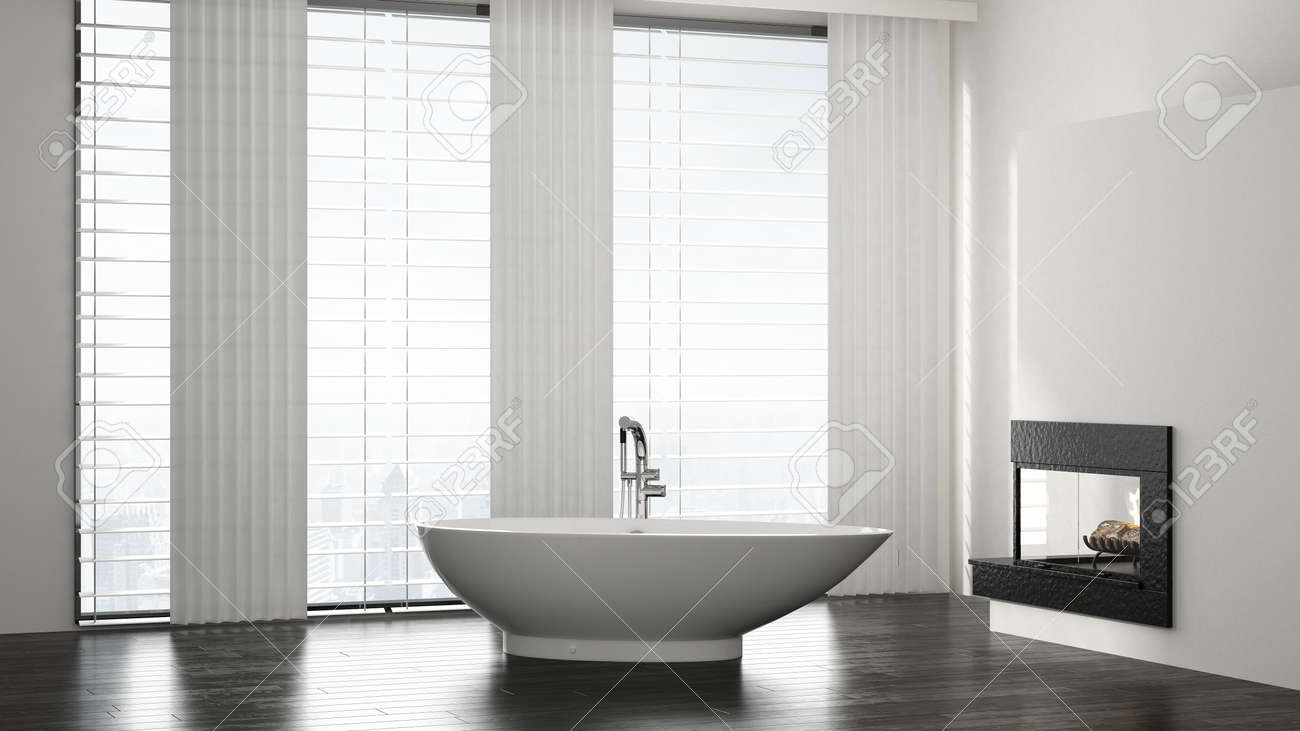 Moderne Badezimmer Stock Photo
