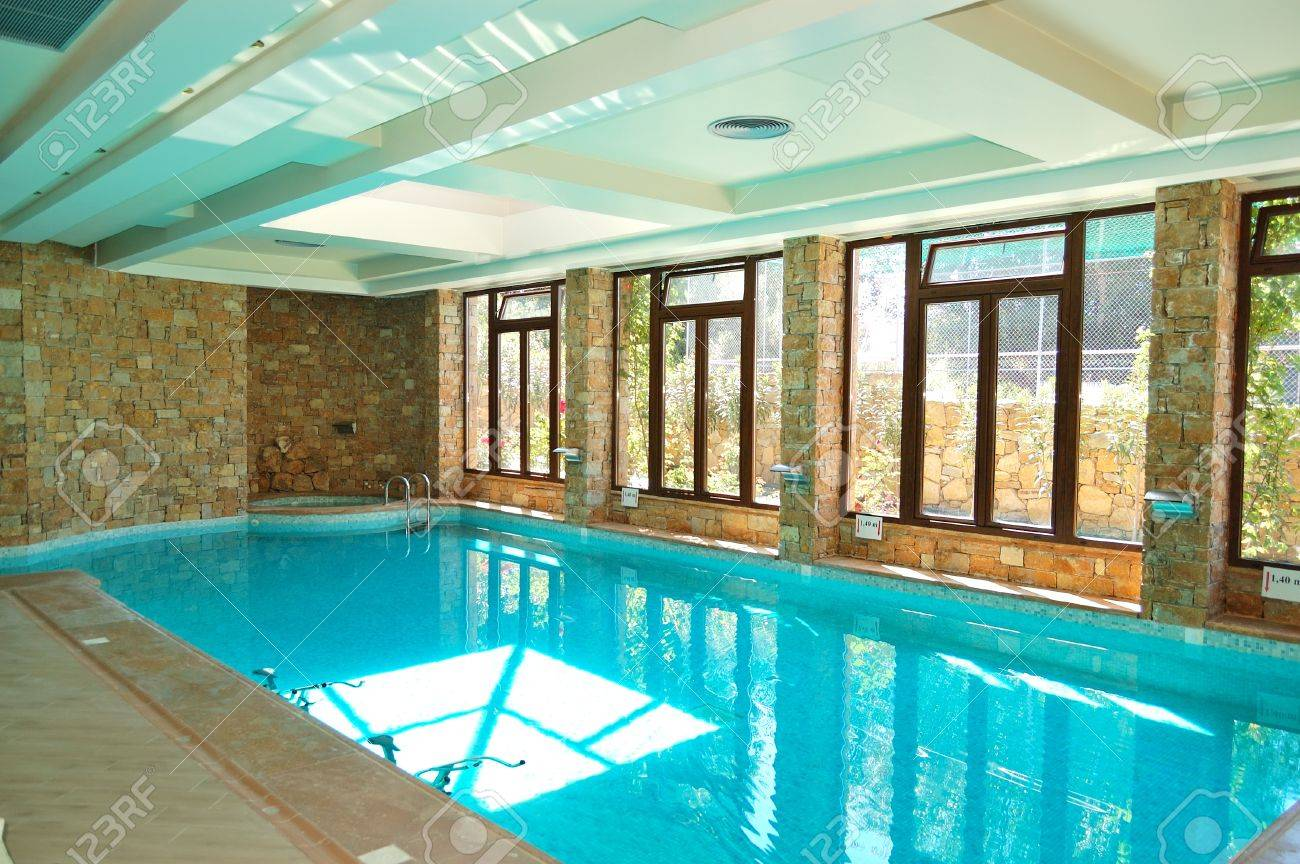 Jacuzzi In The Pool The Swimming Pool With Jacuzzi In Spa At Modern Hotel Halkidiki