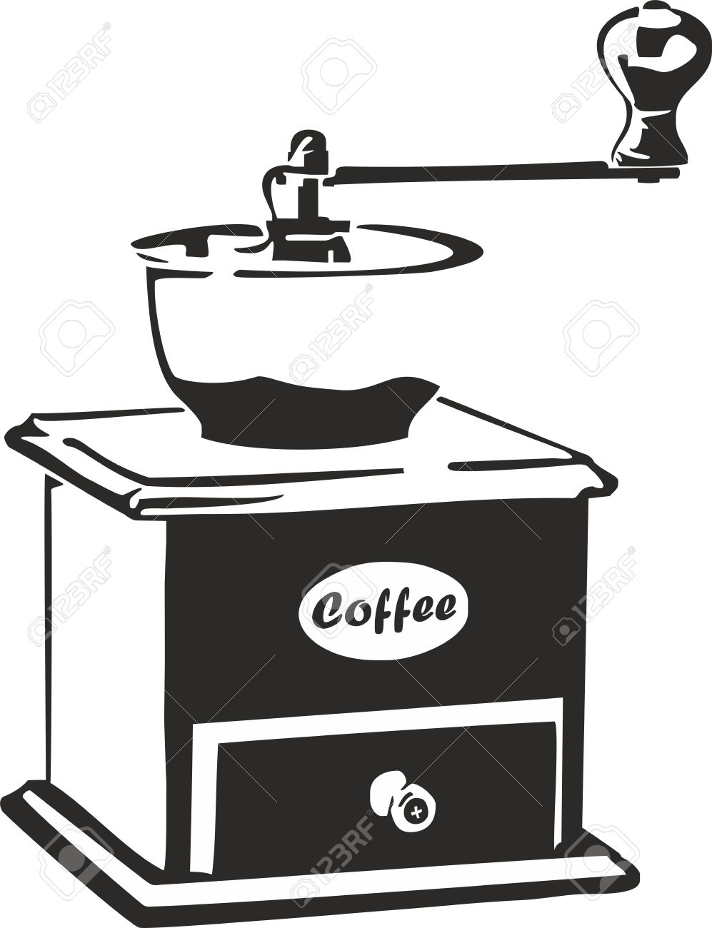 Trabant Clipart Vector Illustration Of An Old Coffee Grinder