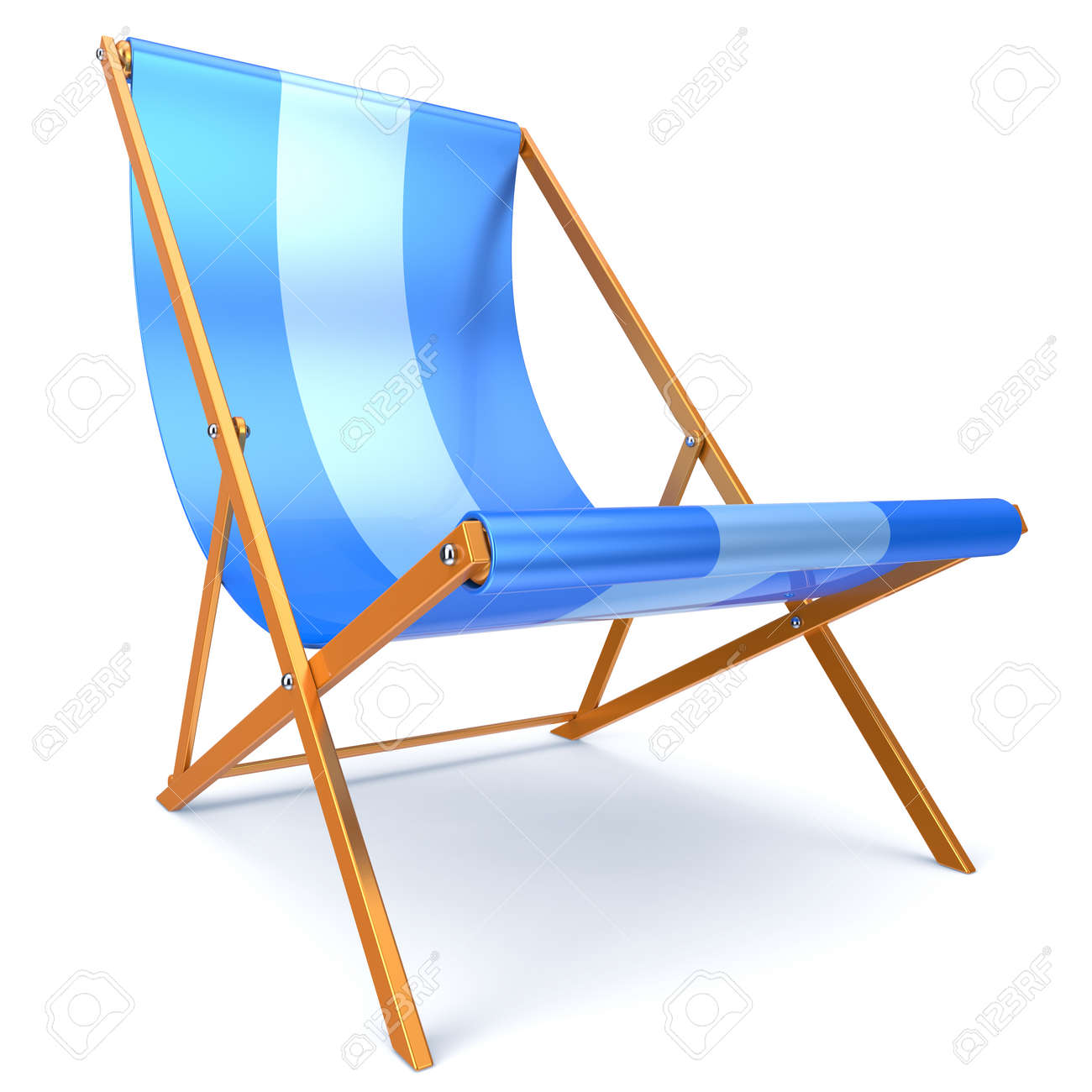 Silla Chaise Longue Beach Chair Blue Chaise Longue Nobody Relaxation Holidays Spa