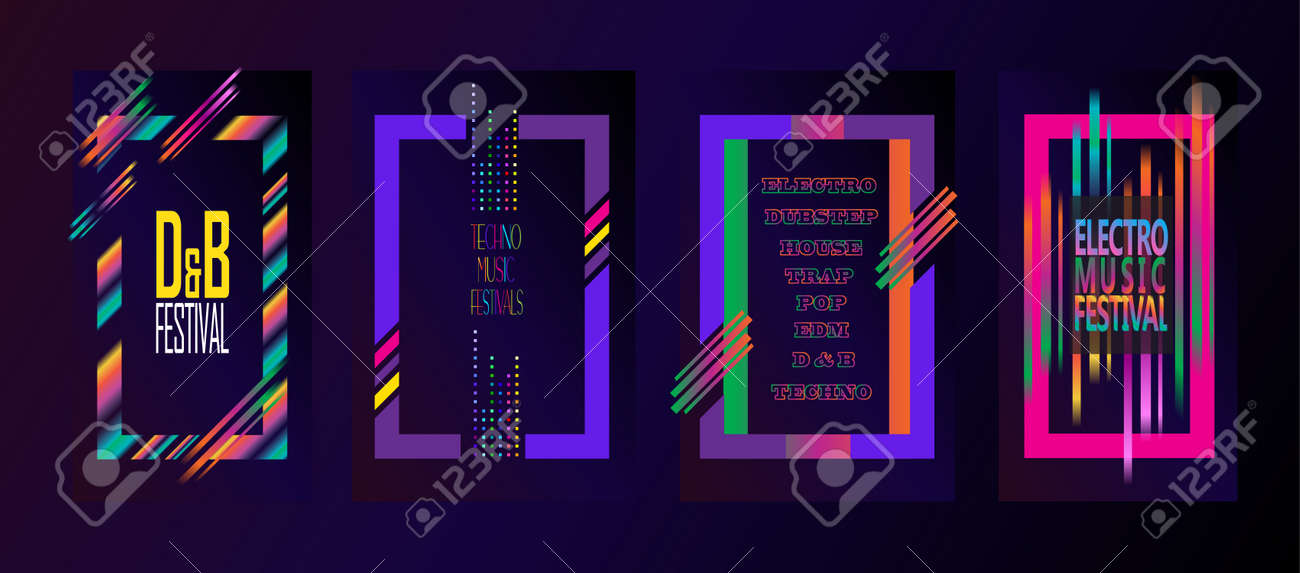 Abstract Modern Music Brochure Covers, Posters, Flyers, Backdrops