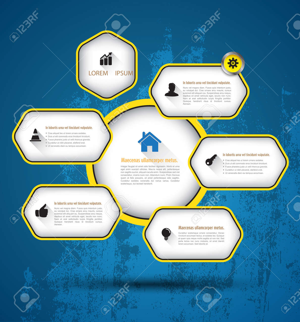 Ra T Vel Template Hexagons With Icons