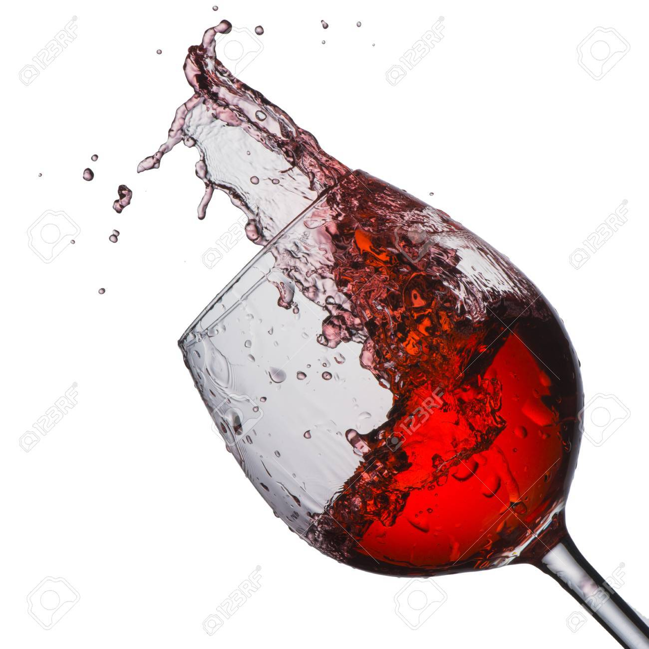 Photo De Verre De Vin Verre à Vin Rouge Avec Splash