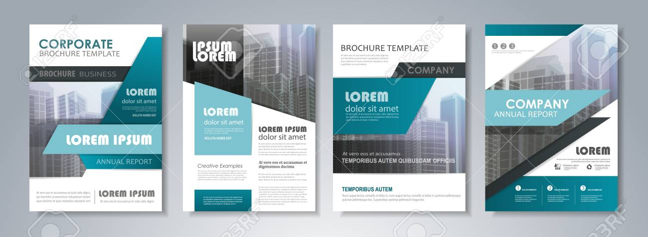 Presentation Template Set For Business Annual Report, Corporate