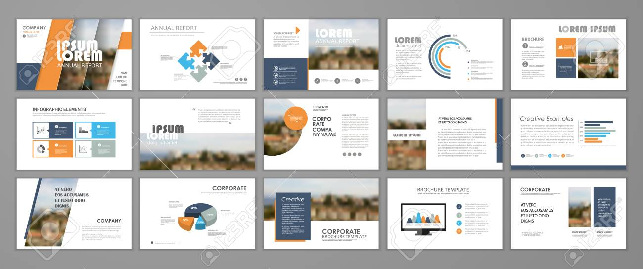 Presentation Templates For Business Booklet, Corporate Report