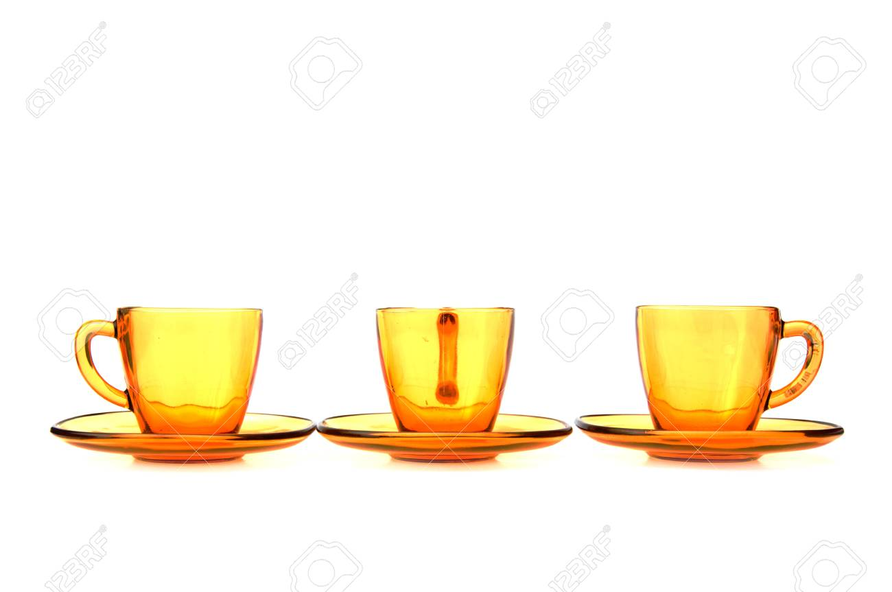 Glas Teetassen Stock Photo