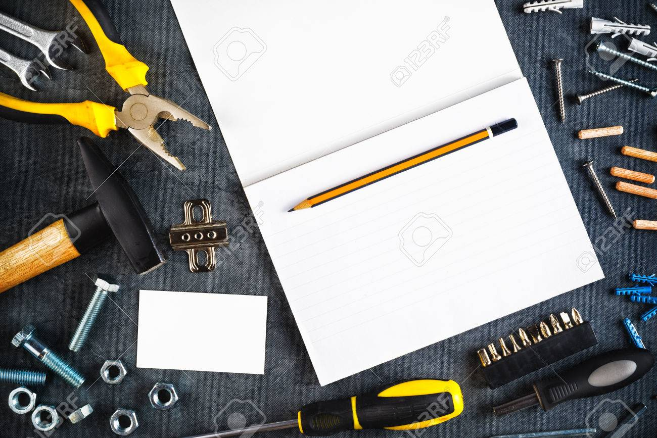 Do Yourself Home Improvement Project Assorted Do It Yourself Diy Tools And Blank Page Notebook As