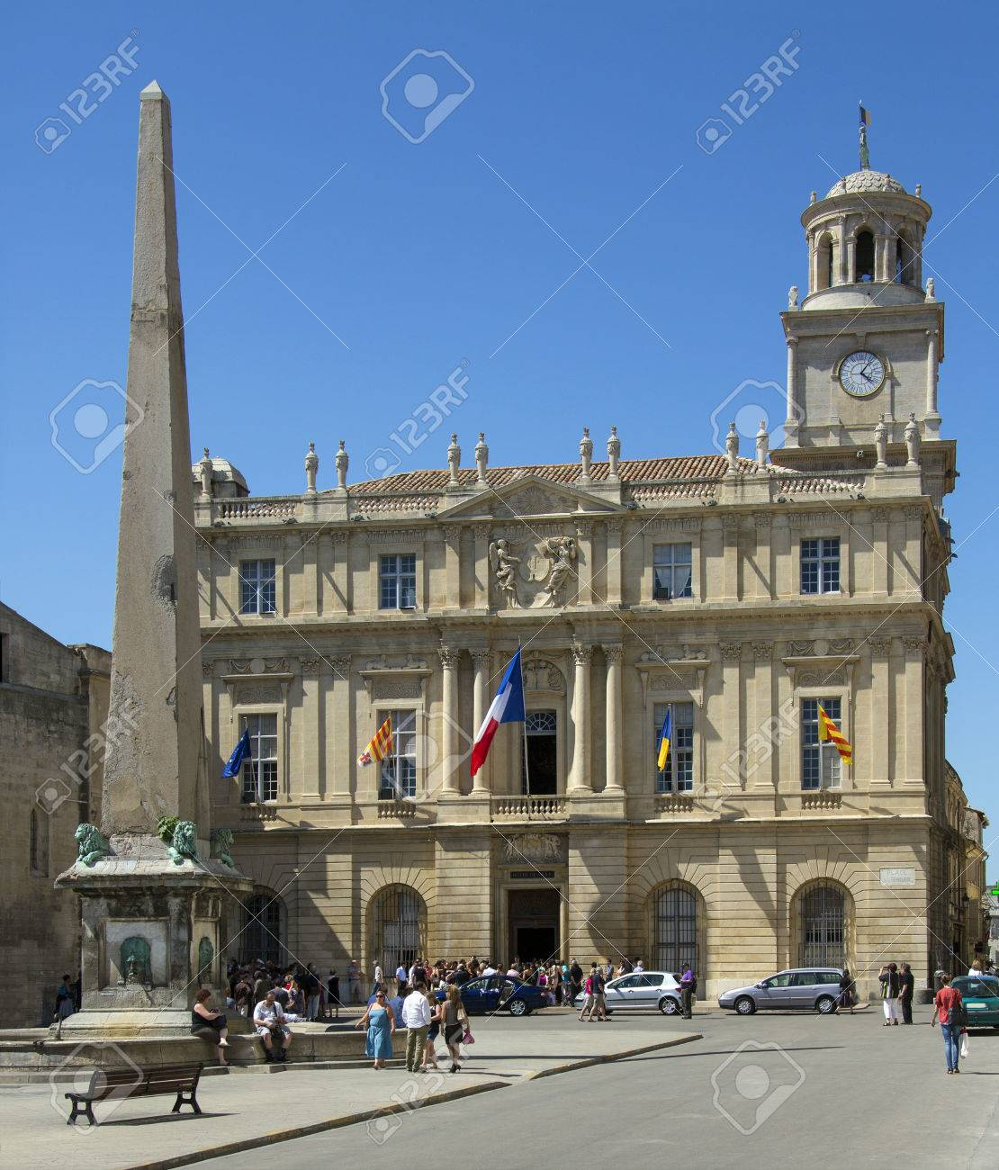 Region De La Provence The Hotel De Ville Town Hall In The Town Of Arles In The Provence