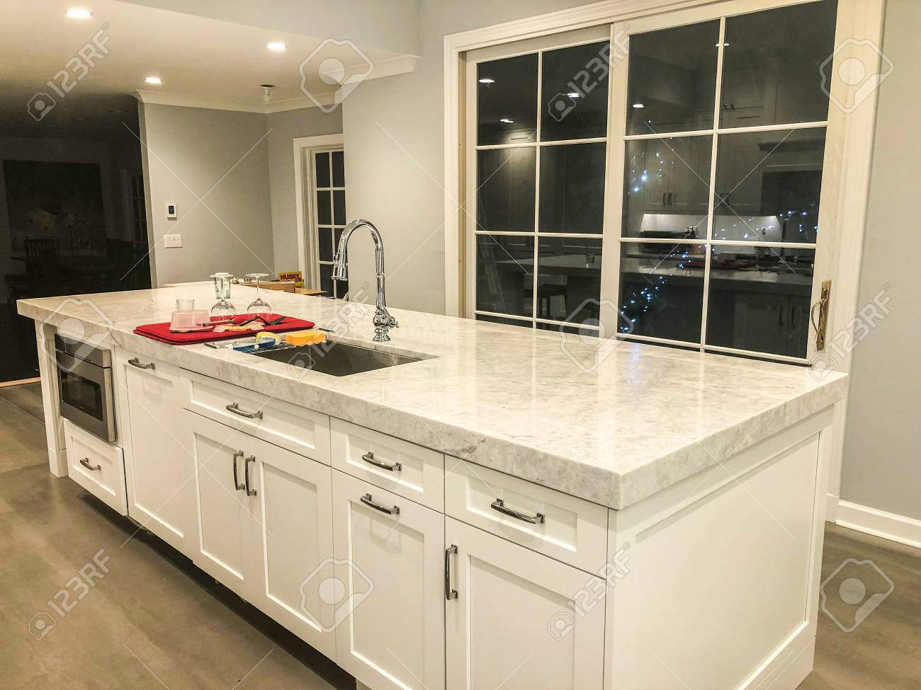 White Marble Island White Kitchen Island Cabinets With White Marble Countertops