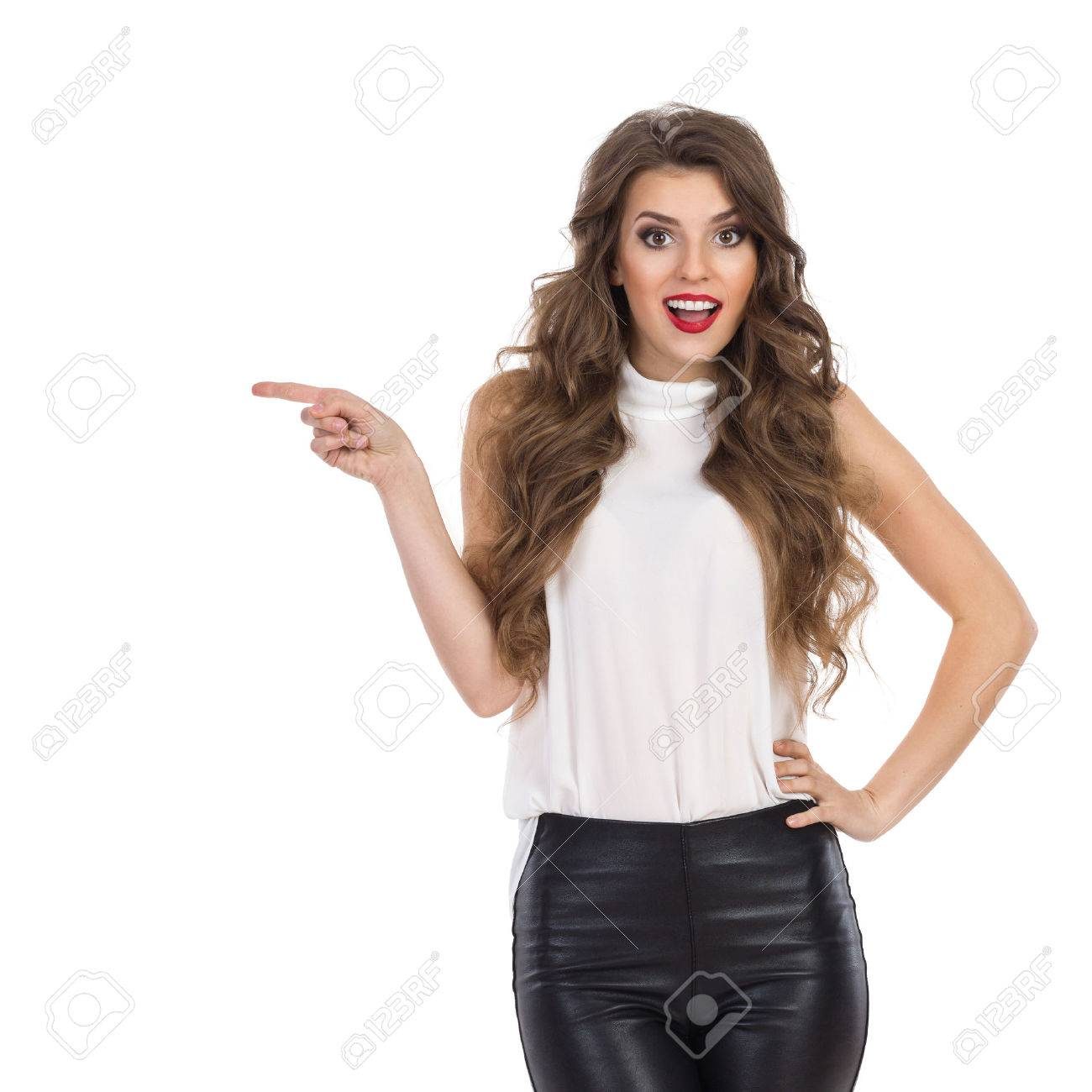 Lederhose Frau Stock Photo