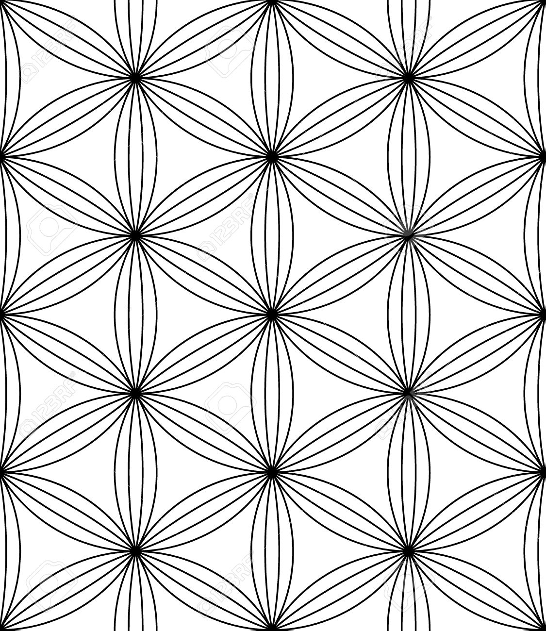 black and white textile print stylish background abstract texture monochrome fashion design sacred geometry bed sheets or pillow pattern