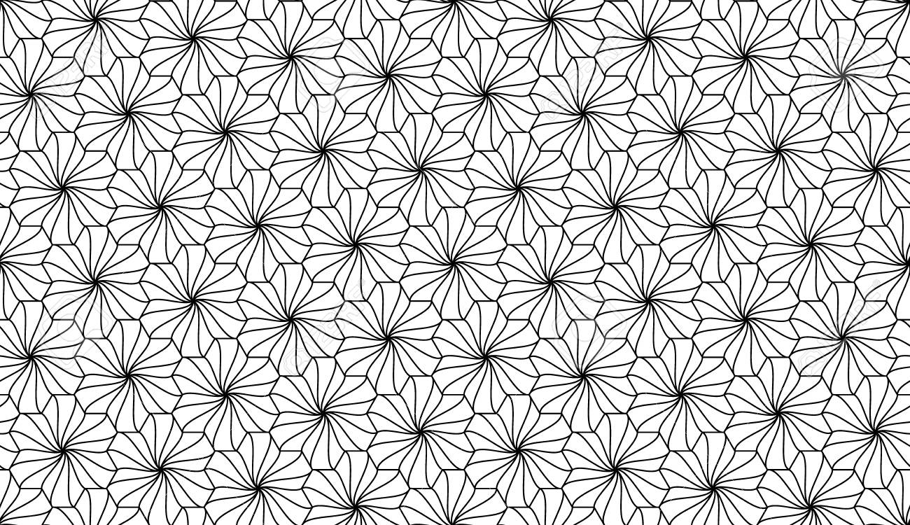 Vector Modern Seamless Geometry Pattern Flowers Black And White Royalty Free Cliparts Vectors And Stock Illustration Image 45452353