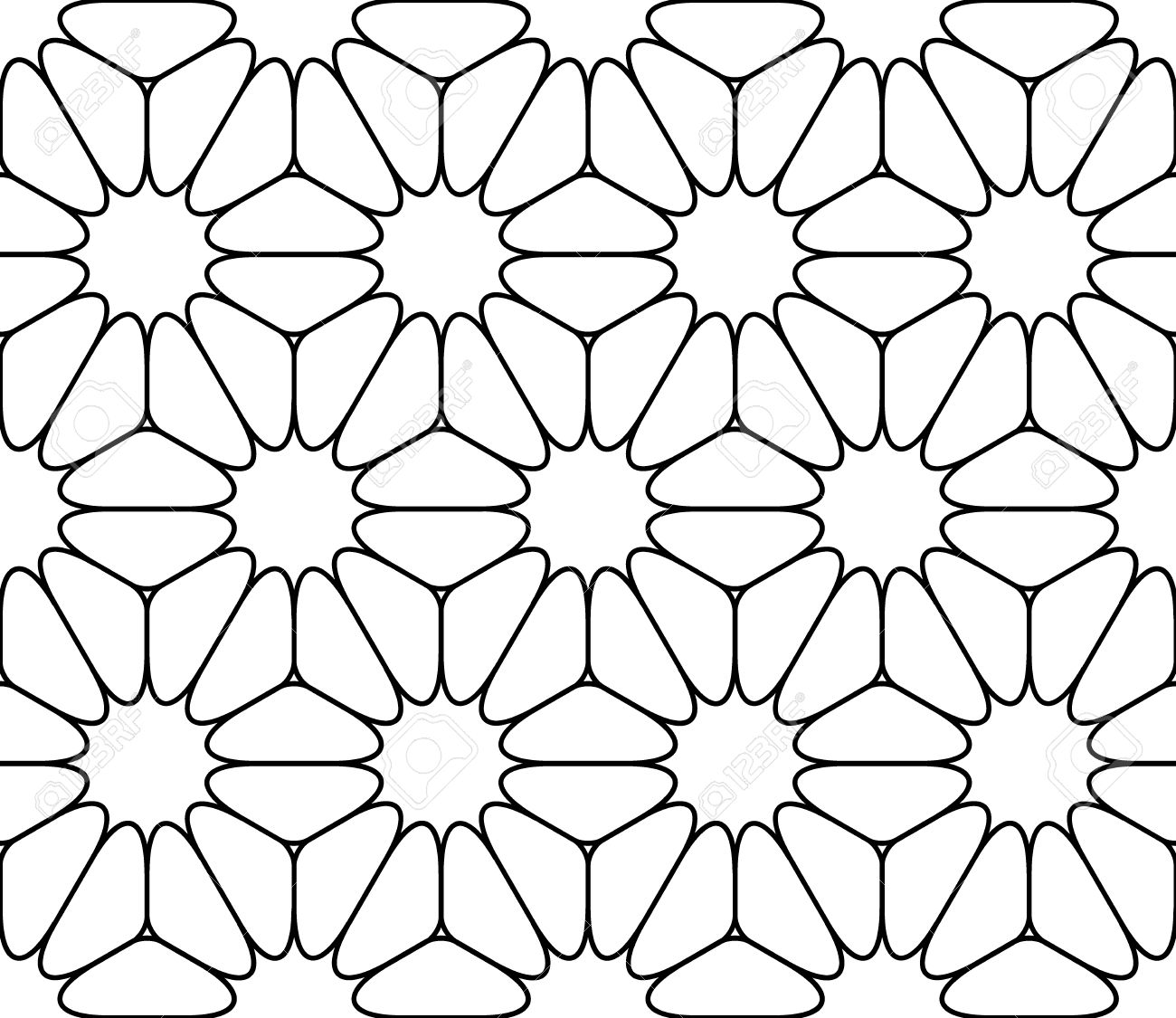 Modern Seamless Sacred Geometry Pattern Floral Black And White Royalty Free Cliparts Vectors And Stock Illustration Image 46815523