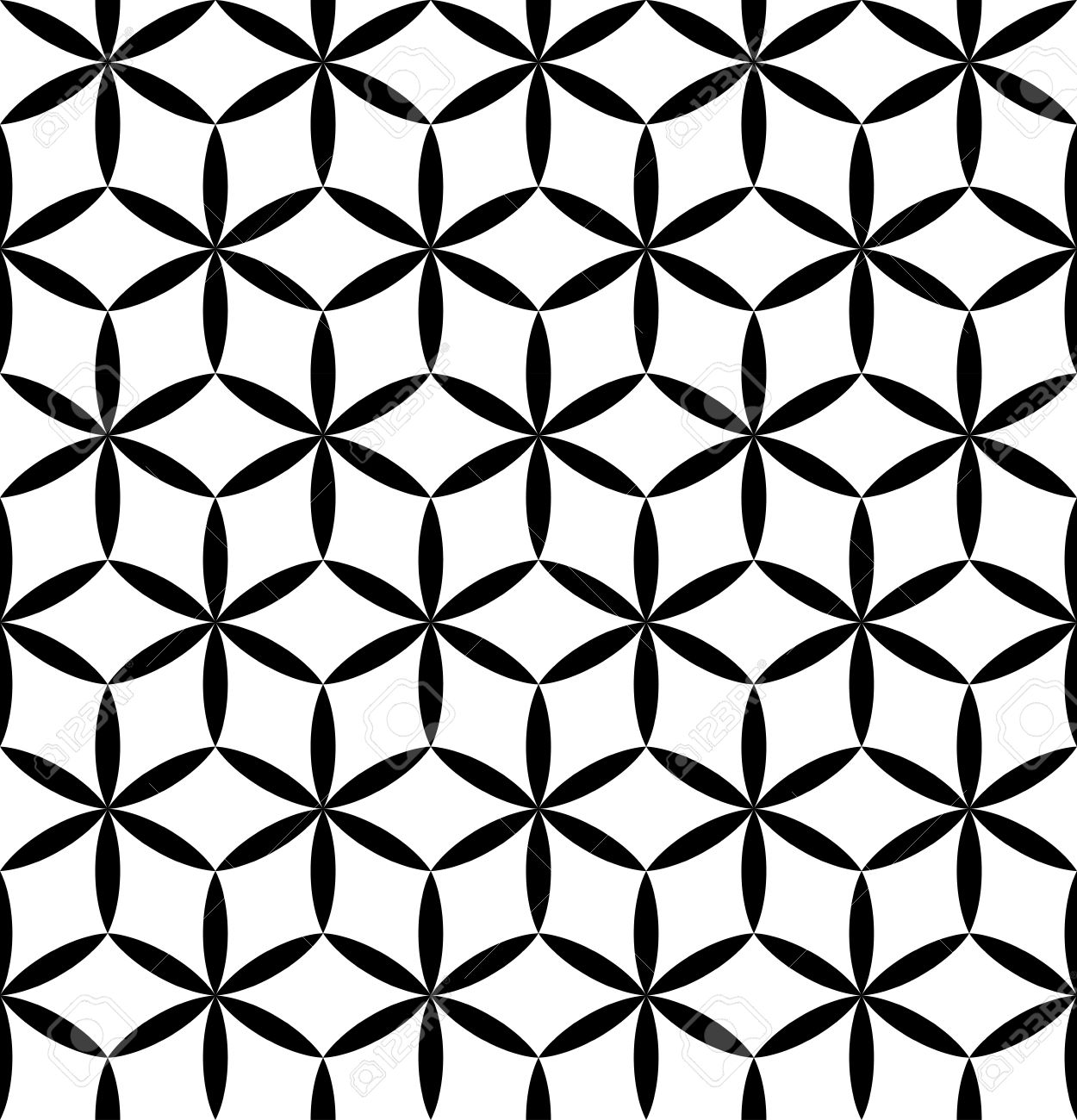 Vector Modern Seamless Sacred Geometry Pattern Flower Of Life Royalty Free Cliparts Vectors And Stock Illustration Image 53278269