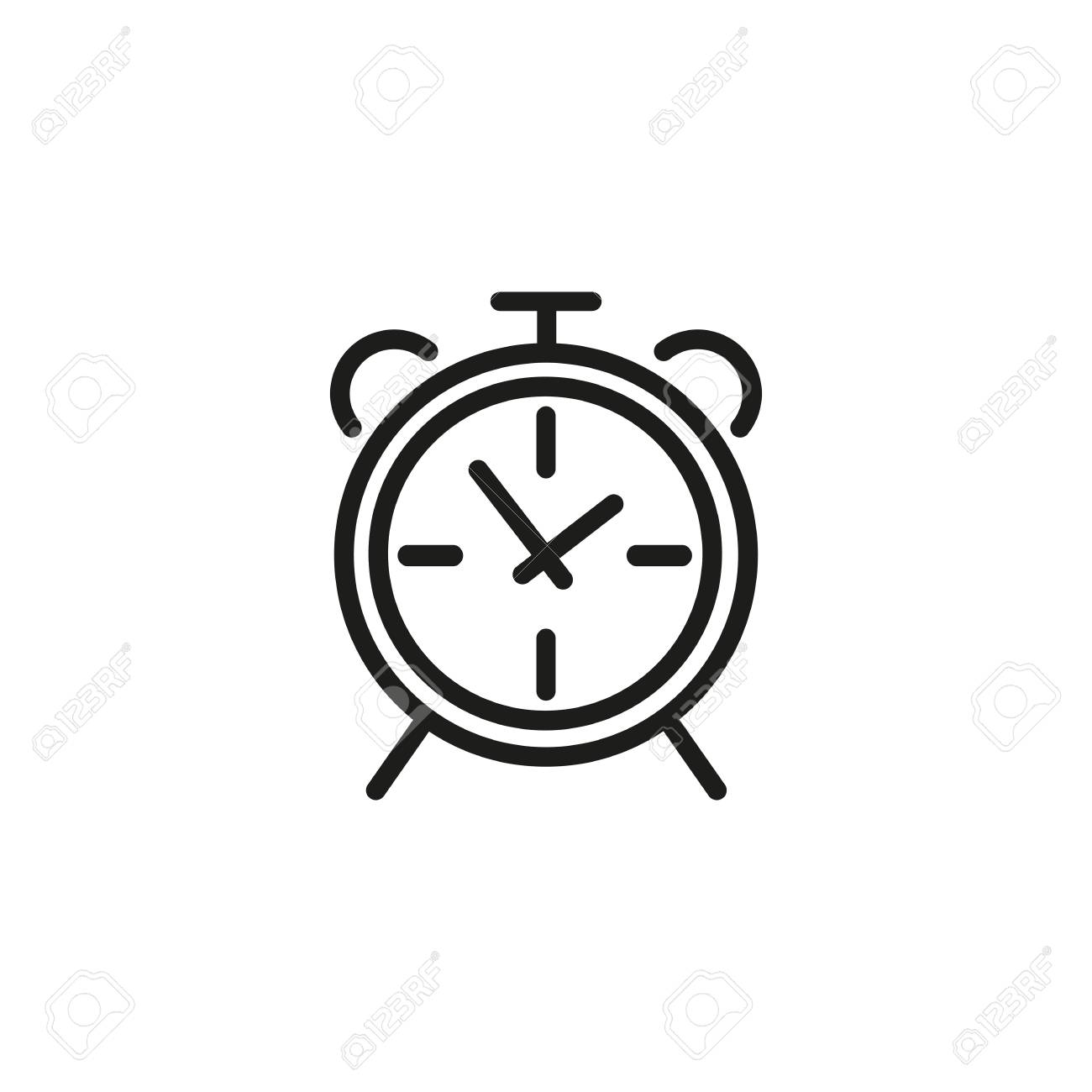 Alarm Timer Alarm Clock Line Icon Watch Reminder Timer Timing Concept