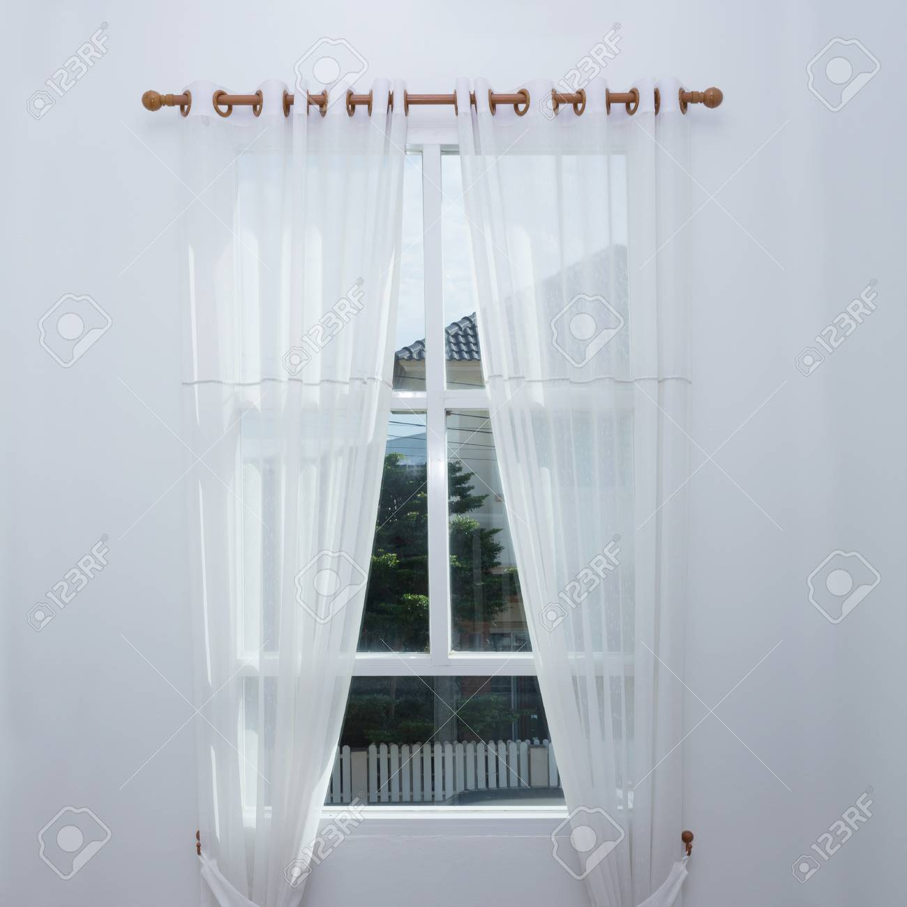 Vorhang Fenster Stock Photo