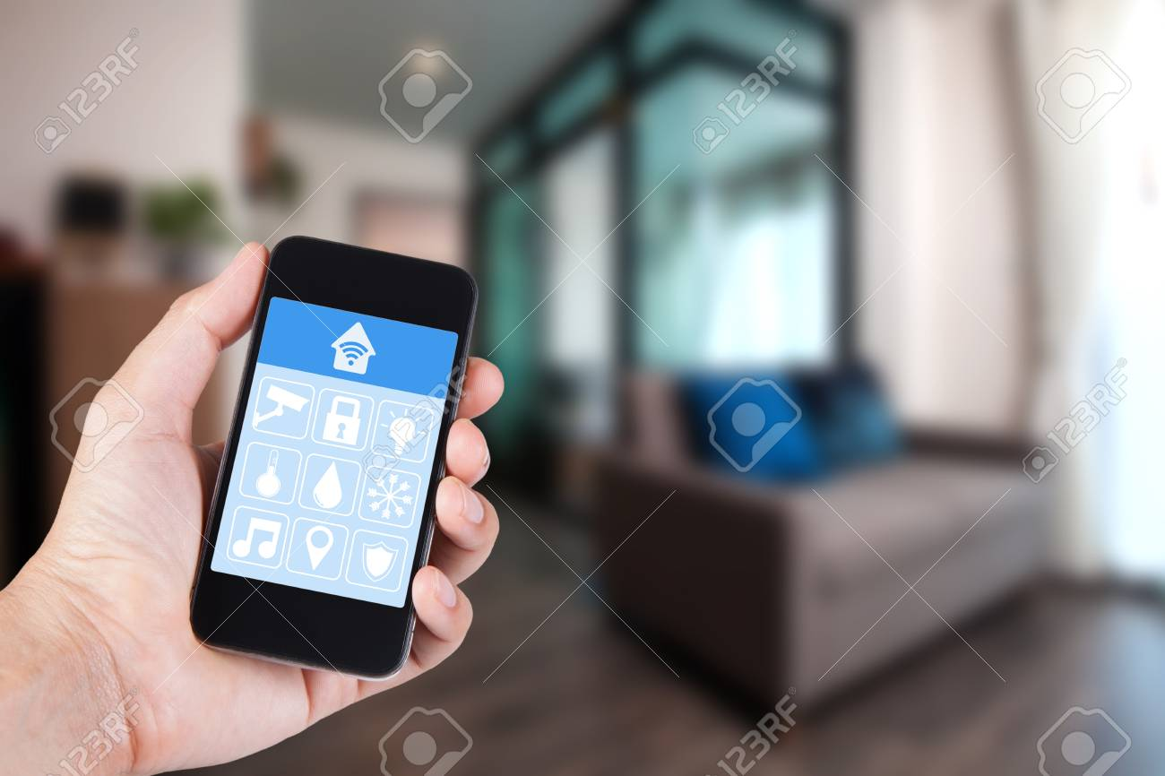 Smart Home Fernbedienung Stock Photo