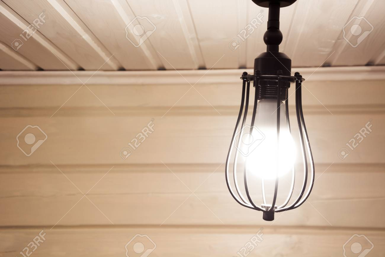 Schwarze Lampe Stock Photo
