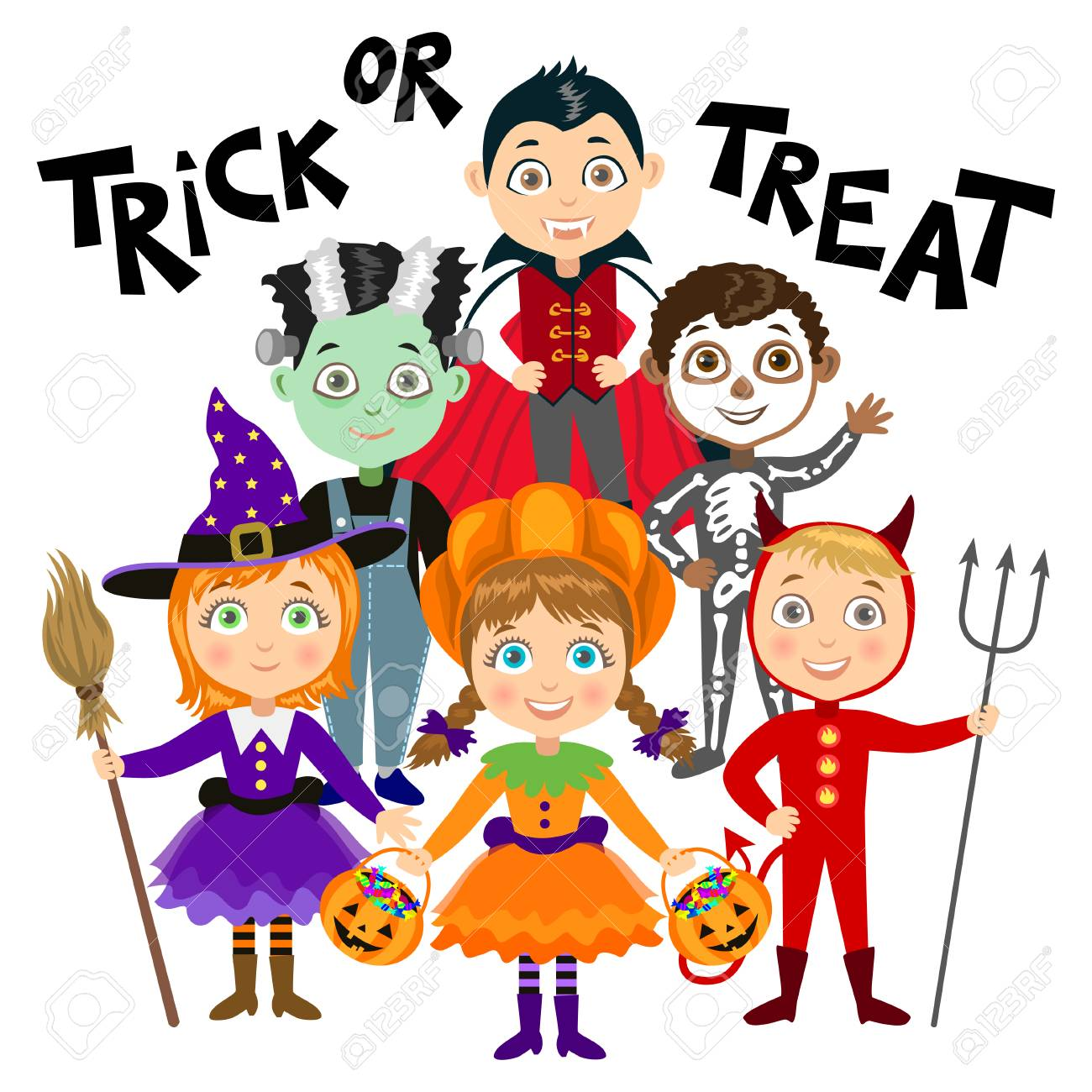 Halloween Kostuem Kinder Vampir Stock Photo