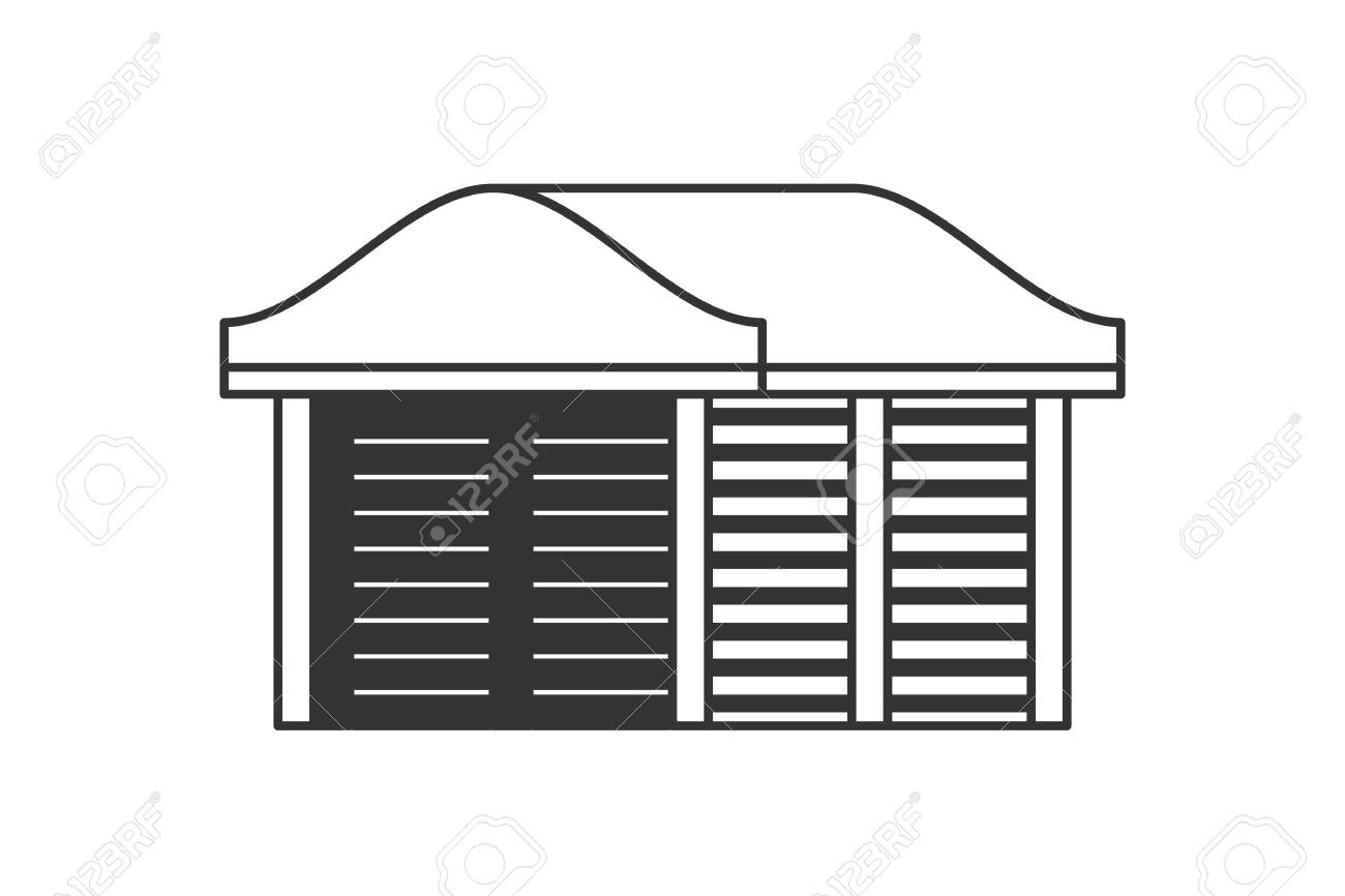 Zeichnung Carport Carport For Cars At Home Vector Carport Design In Flat Lines