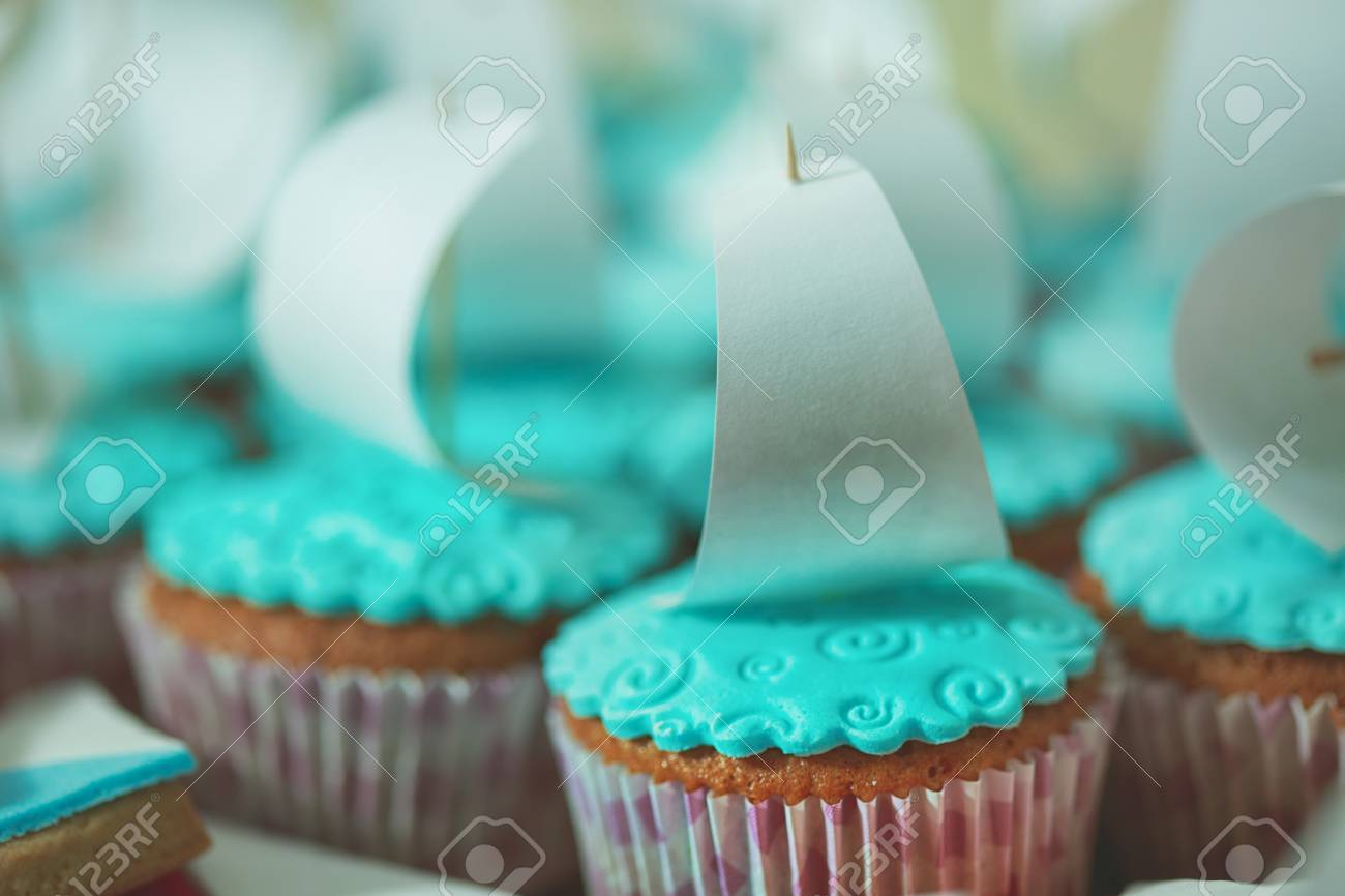 Kuchen Schiff Stock Photo