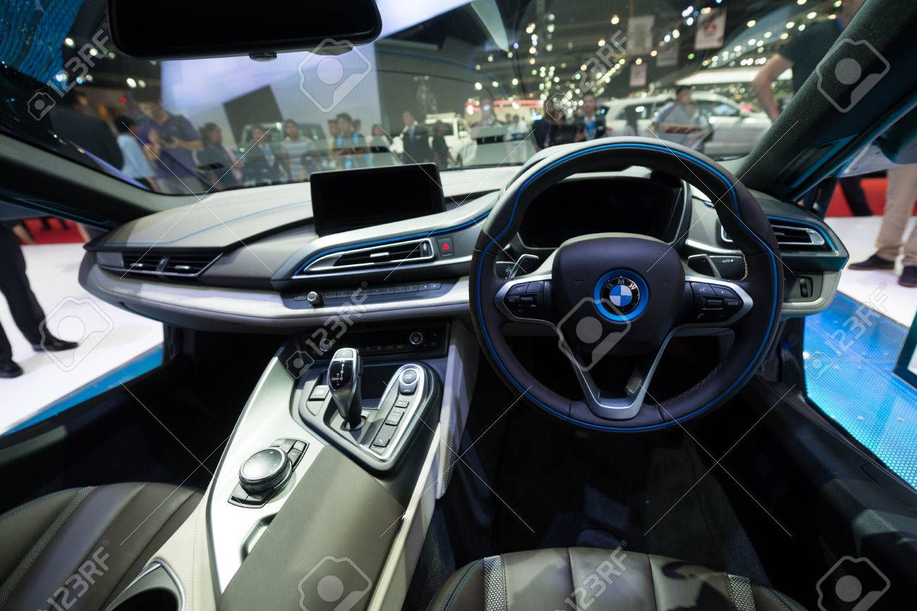 Bmw I8 Interieur Bangkok March 25 Interior Of Bmw I8 Hybrid Production Car