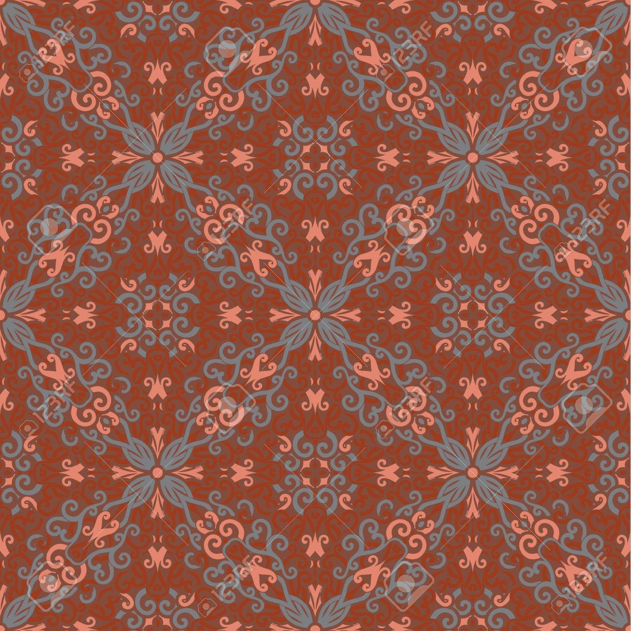 Teppichmuster Orient Vector Abstract Seamless Orient Carpet Pattern