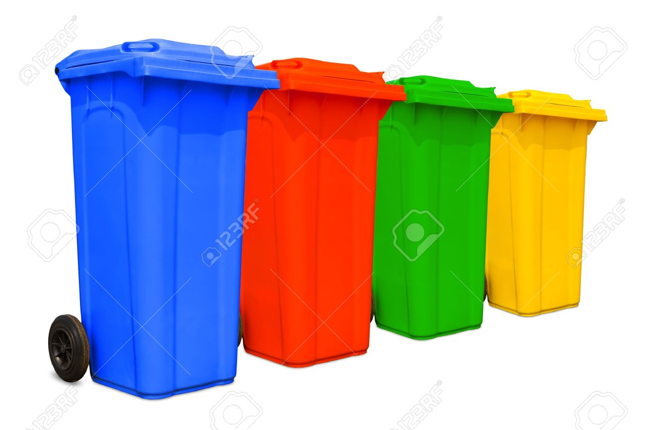 Colorful Garbage Cans Large Colorful Trash Cans Garbage Bins With Wheel Collection