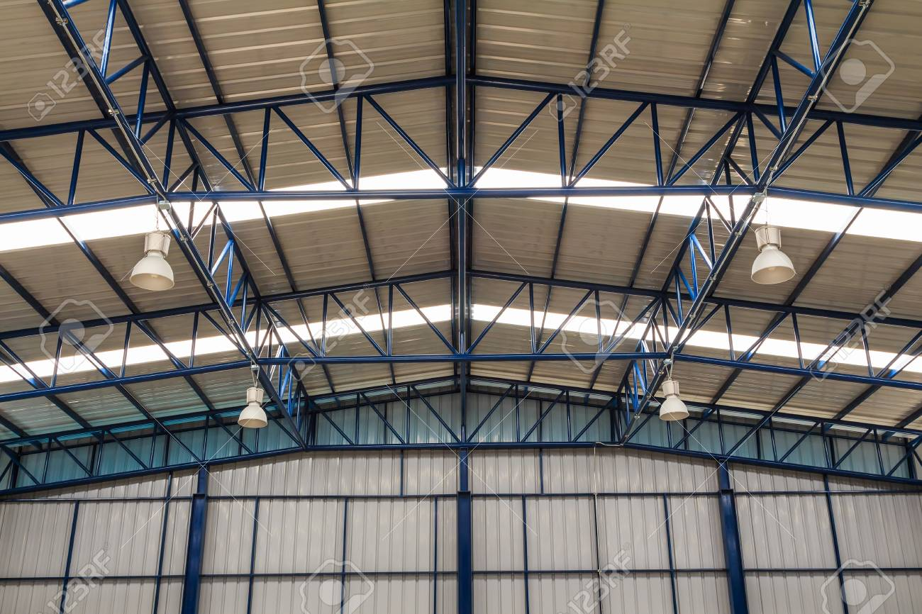Overhead Lighting Factory Roof And Truss With Industrial Overhead Lighting Fixture