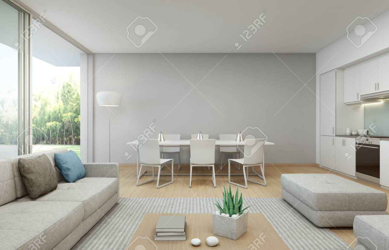 Luxus Küche Mit Esszimmer Stock Photo