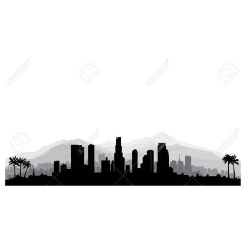 Medium Crop Of Los Angeles Skyline Silhouette