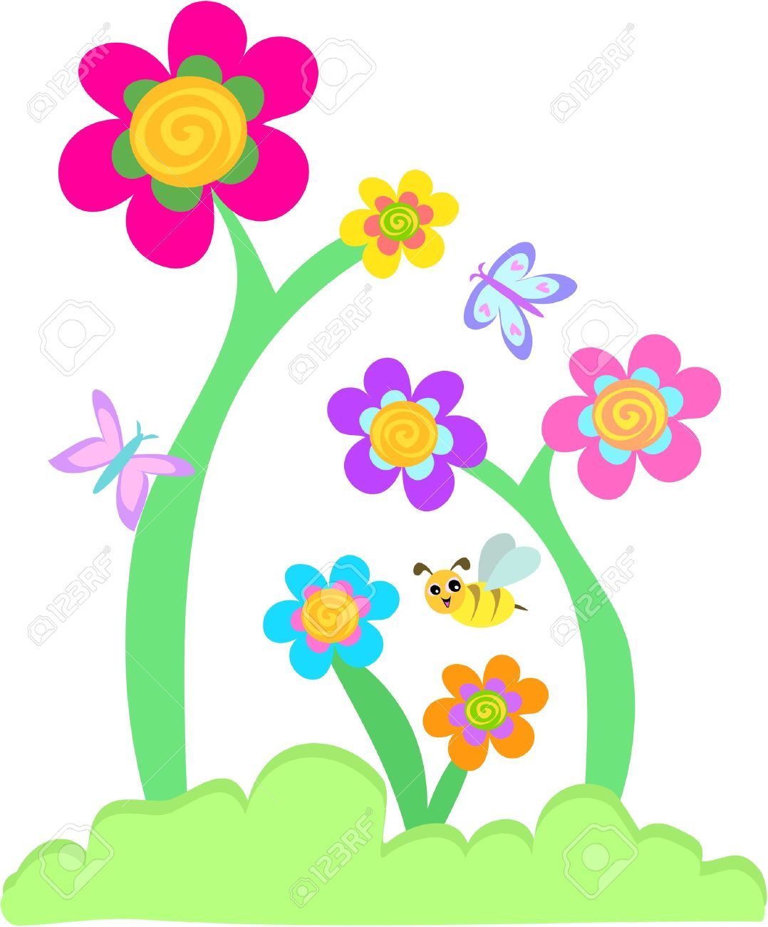 Flower garden cartoon - Flower Garden Cartoon Zandalus