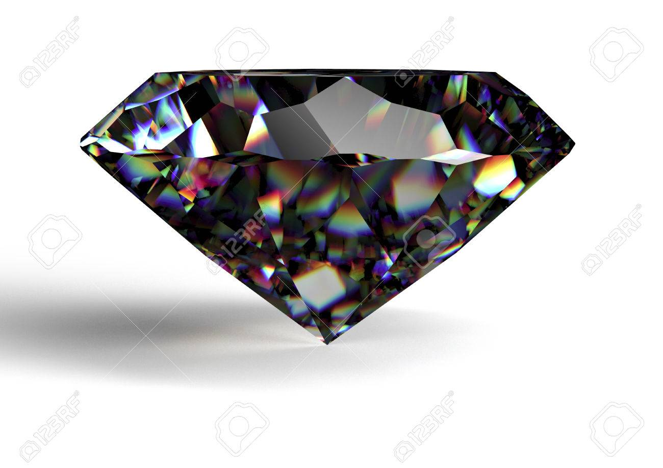 Black Diamond Black Diamond Isolated On White Background