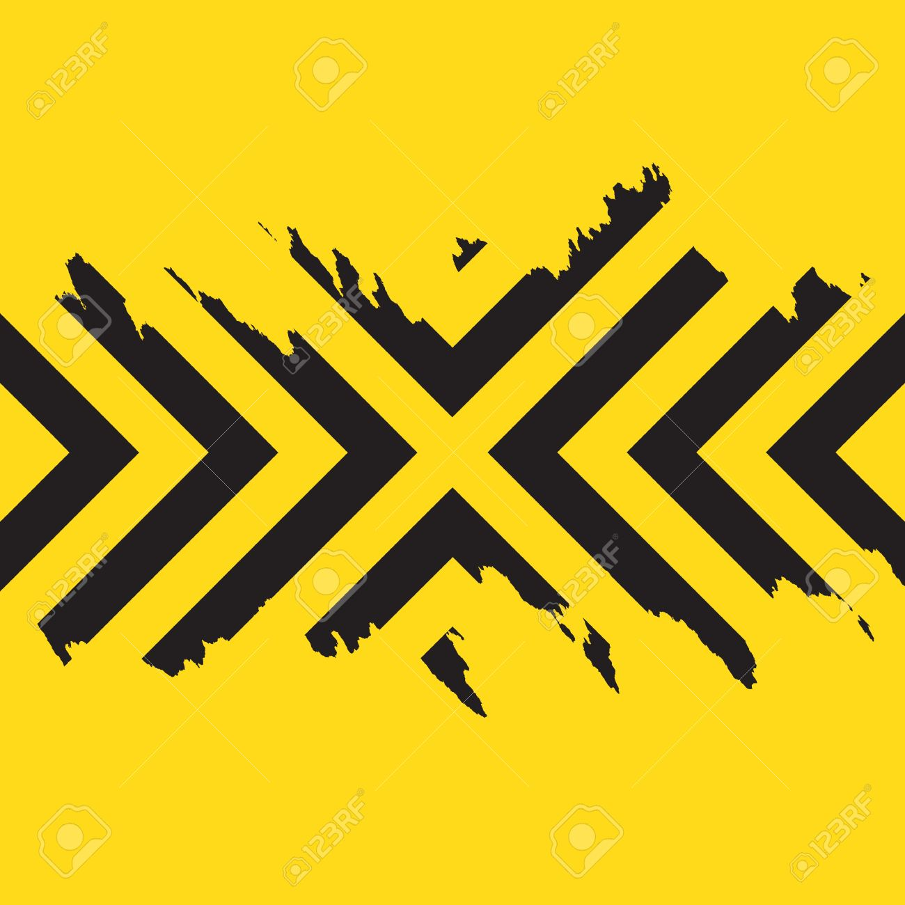 Border frame with black and yellow stripe on white background - Border Frame With Black And Yellow Stripe On White Background Chevron Border Worn Black Chevron Download