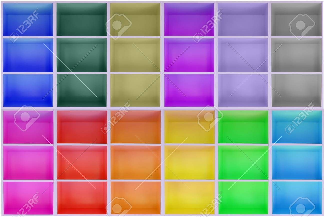 Bunte Schränke Stock Photo