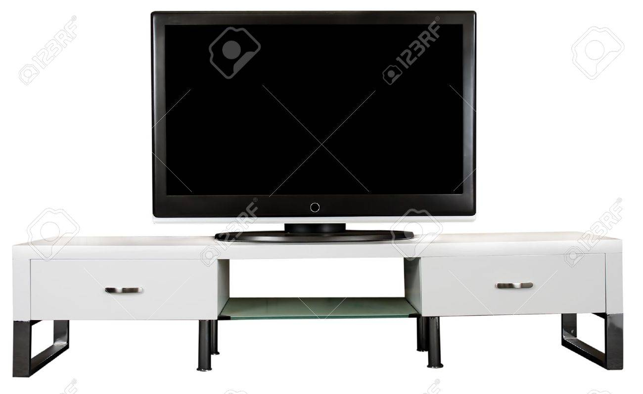 Tv Schrank Weiß Stock Photo
