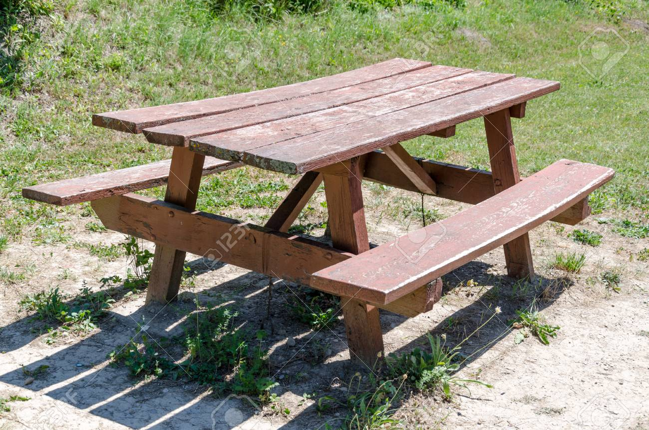 Wooden Bench Table Wooden Bench And Picnic Table
