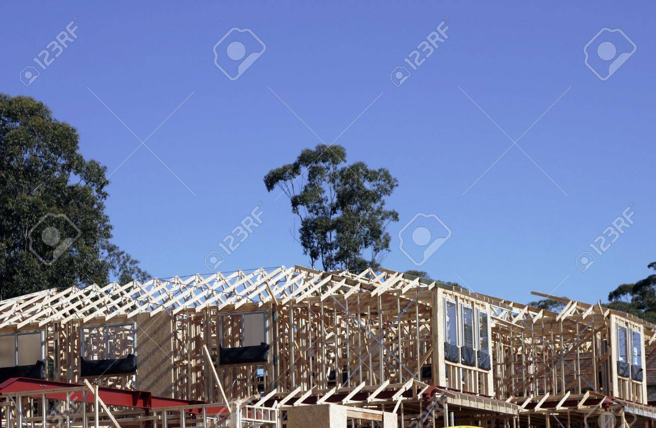 Picture Frames Australia Wooden Construction Frames Of Suburban House In A Sydney Suburb