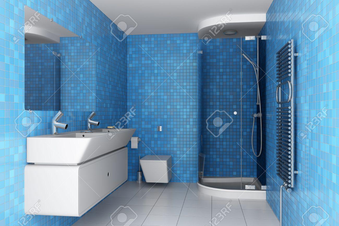 Bagno blu e bianco bagno azzurro
