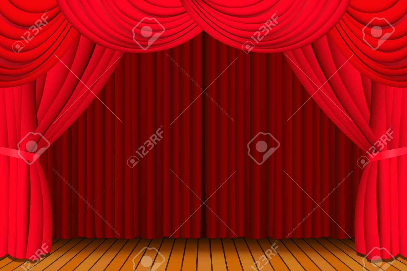 Free coloring pages of stage curtains - Download