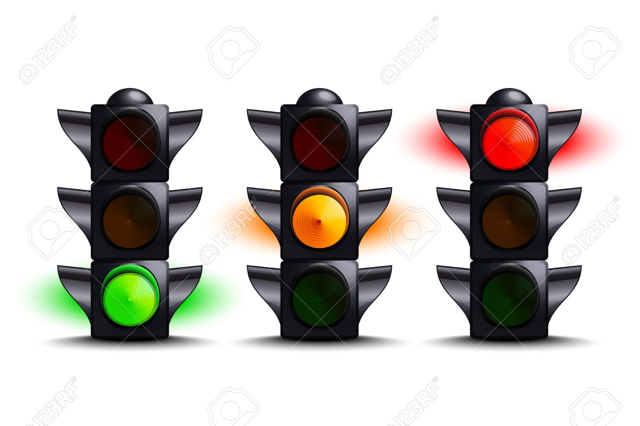 Rote Ampel Clipart Stock Photo