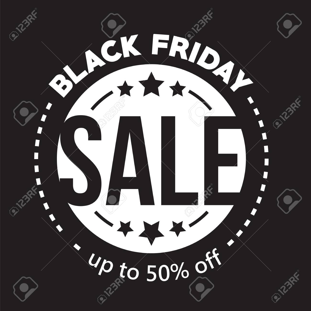 Black Friday Sale Big Sale Fifty Percent On Black Friday Shopping Vector Illustration Vector Picture Autumn Discounts In Store On Black Friday Sale